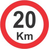 placa de velocidade permitida